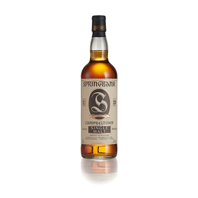 Lot 60-SPRINGBANK 21 YEAR OLD