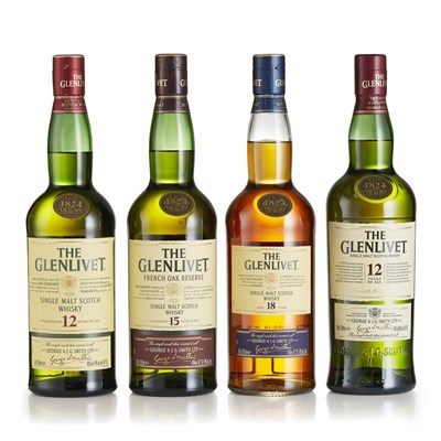 Lot 9 - A COLLECTION OF GLENLIVET