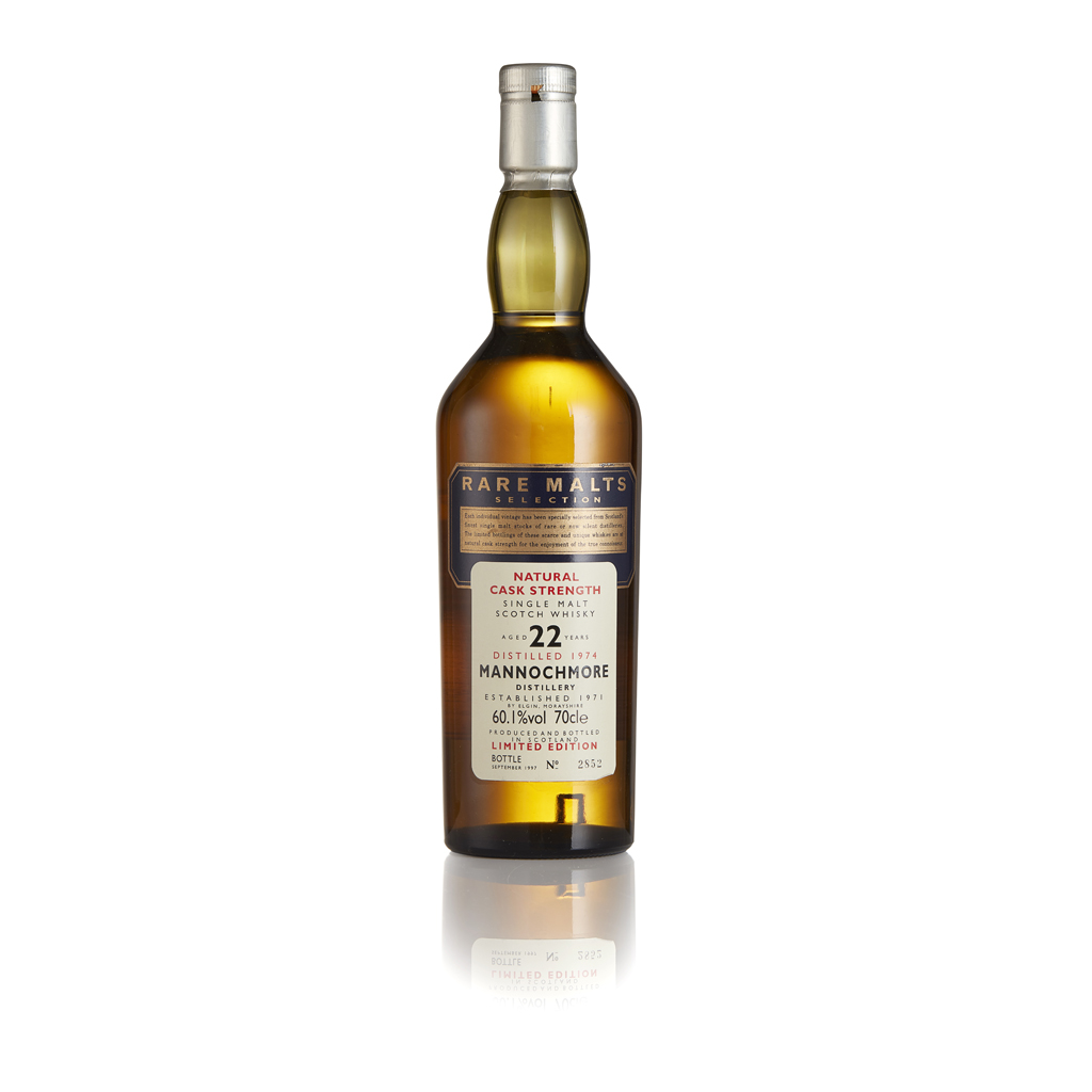 Lot 2-MANNOCHMORE 1974 22 YEAR OLD - RARE MALTS