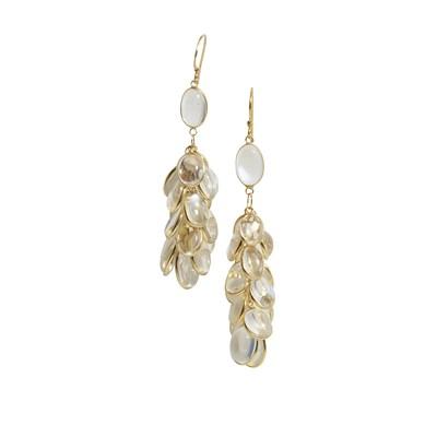 Lot 40-A pair of moonstone pendant earrings