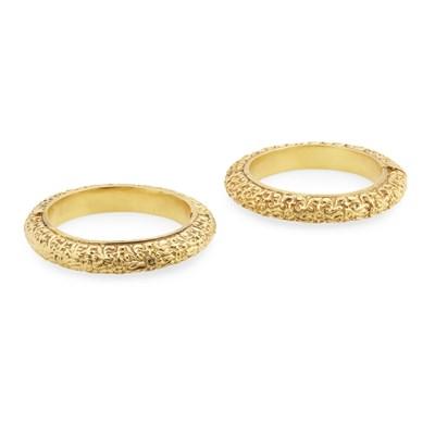Lot 57-A pair of Indian bracelets
