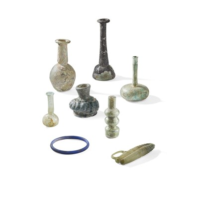 Lot 13-COLLECTION OF ROMAN GLASS