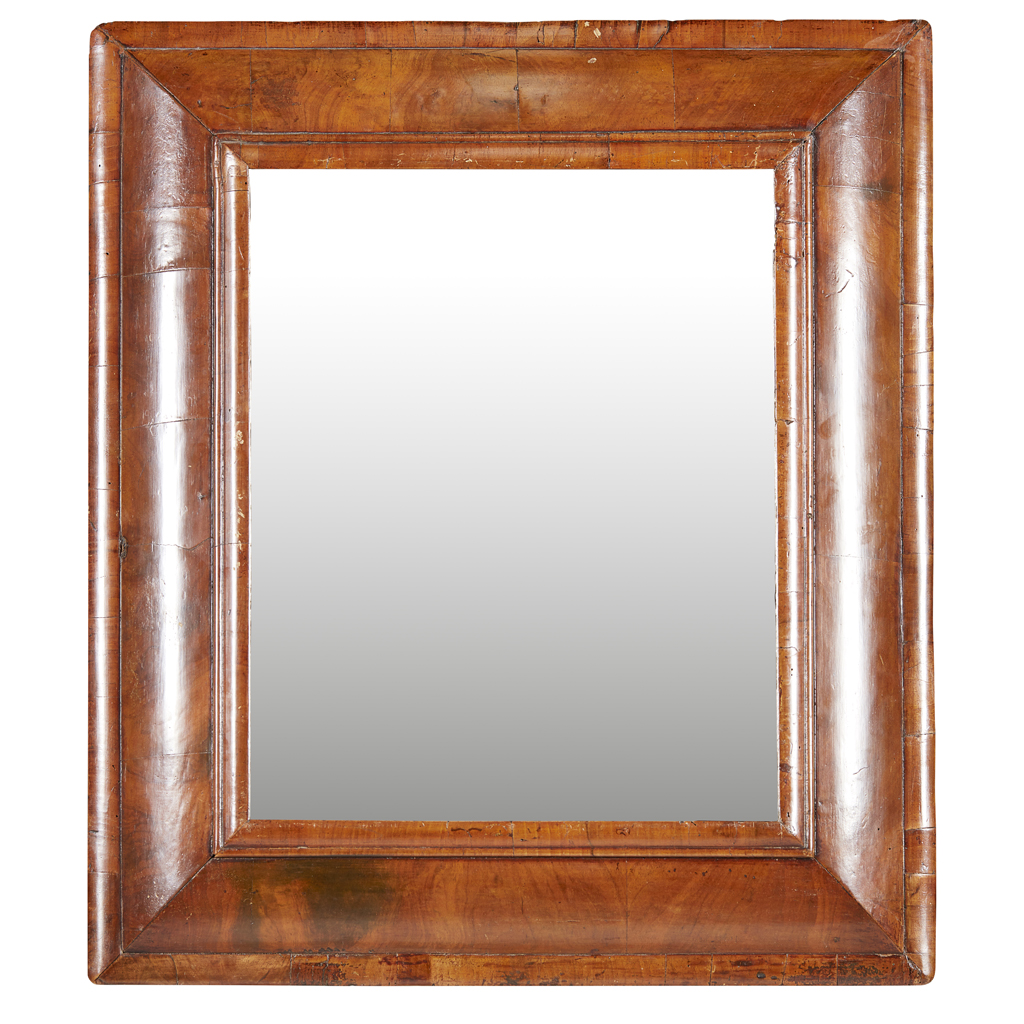 Lot 11-QUEEN ANNE WALNUT MIRROR