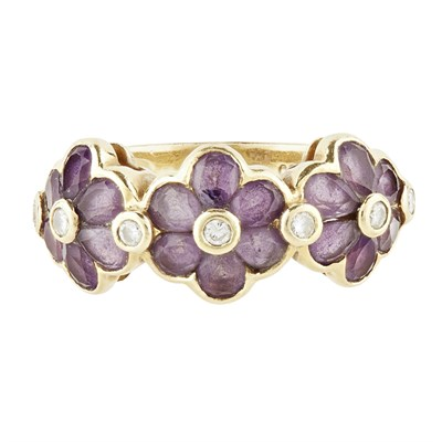 Lot 36-A suite of amethyst jewellery