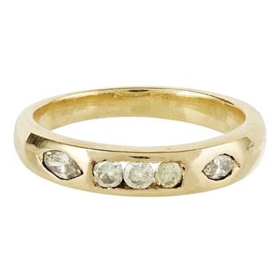 Lot 115 - A diamond set half eternity ring