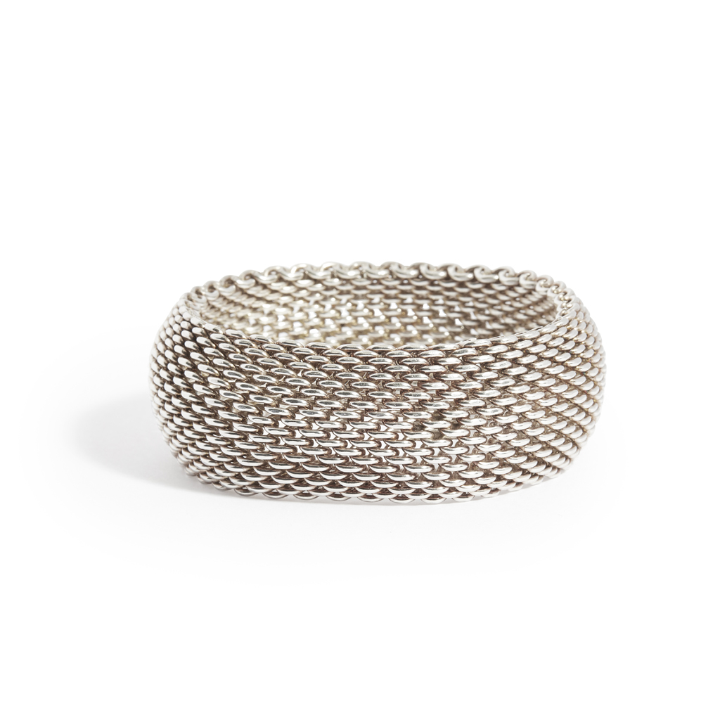 Lot 30-A woven 'Somerset' bracelet, Tiffany & Co
