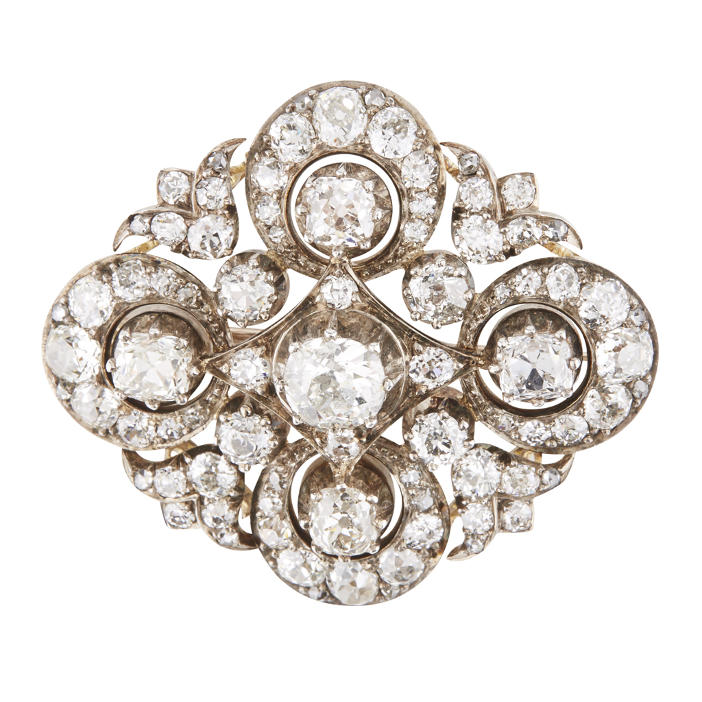 Lot 14-A 19th century diamond set brooch