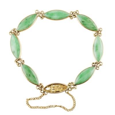 Lot 59-A jade set bracelet