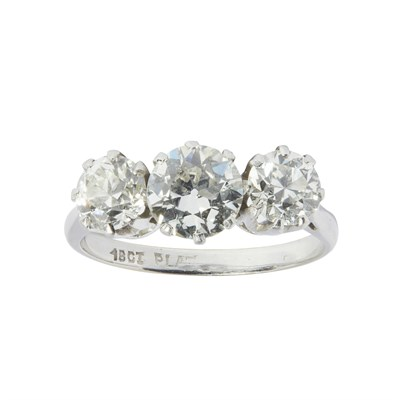 Lot 27-A three stone diamond ring