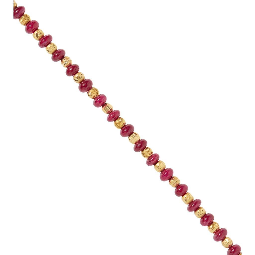 Lot 20-A ruby bead necklace