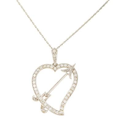 Lot 38-A diamond set 'Luckenbooth' pendant