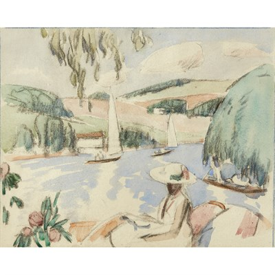 Lot 105 - JOHN DUNCAN FERGUSSON R.B.A. (SCOTTISH 1874-1961)