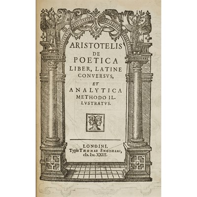 Lot 64 - ARISTOTLE, 2 WORKS, COMPRISING