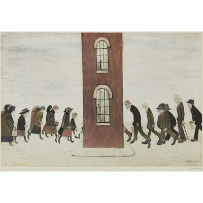 Lot 38 - LAURENCE STEPHEN LOWRY R.A. (BRITISH 1887-1976)