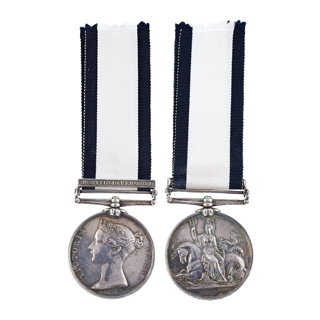 356 - A scarce Naval General Service medal and clasp - Horatio 10 Feby 1809