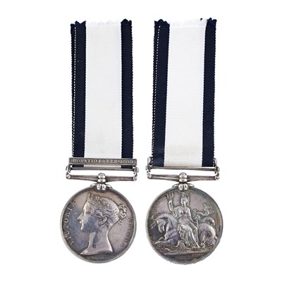 Lot 356-A scarce Naval General Service medal and clasp - Horatio 10 Feby 1809