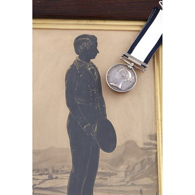Lot 356 - A scarce Naval General Service medal and clasp - Horatio 10 Feby 1809