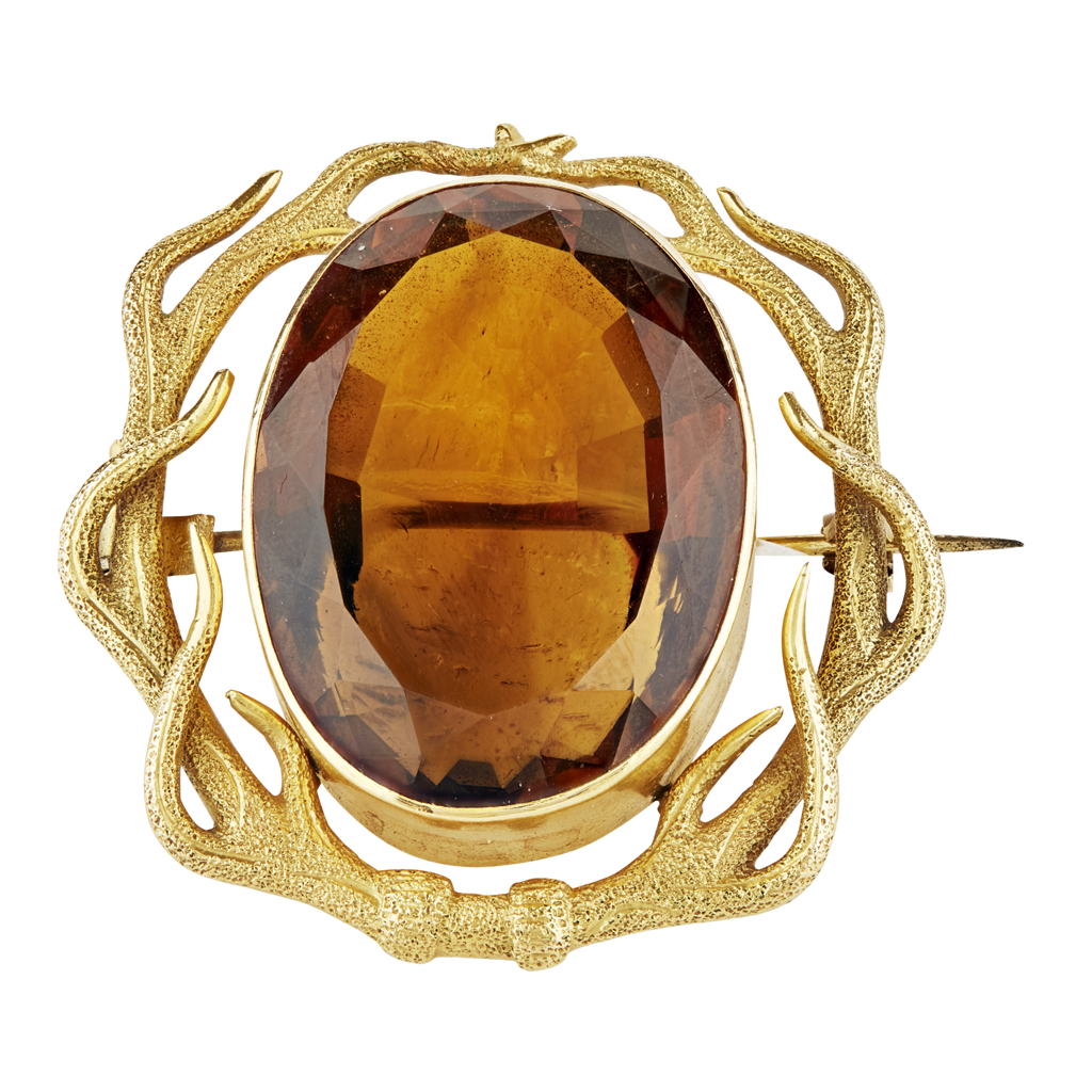 Lot 29-A citrine set brooch