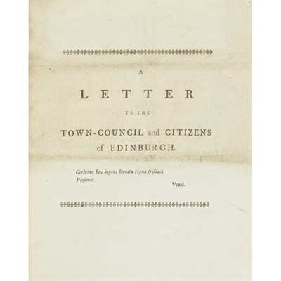 Lot 94 - A COLLECTION OF PAPERS REGARDING THE EDINBURGH ELECTION, 1780