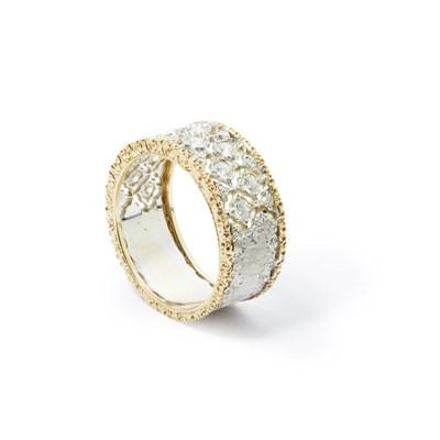 Lot 64-An 18ct gold and diamond set half eternity ring, Buccellati