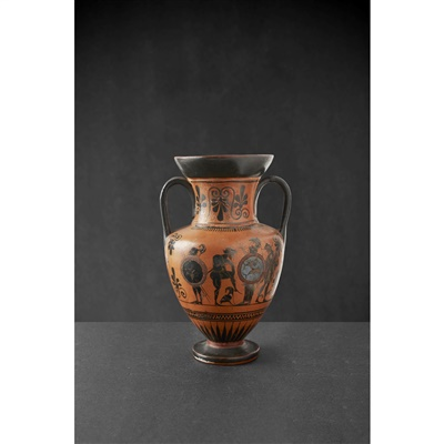 Lot 1-ATTIC BLACK-FIGURE MINIATURE AMPHORA