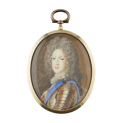 Lot 473 - KING JAMES III A PORTRAIT MINIATURE ON IVORY