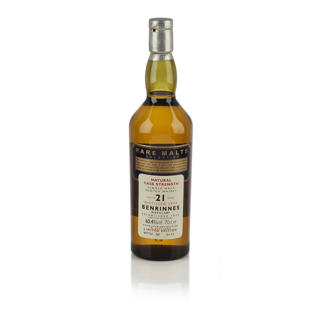 Lot 604-BENRINNES 1974 21 YEAR OLD - RARE MALTS