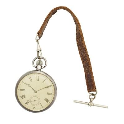 Lot 350 - A silver cased pocket watch, Rolex
