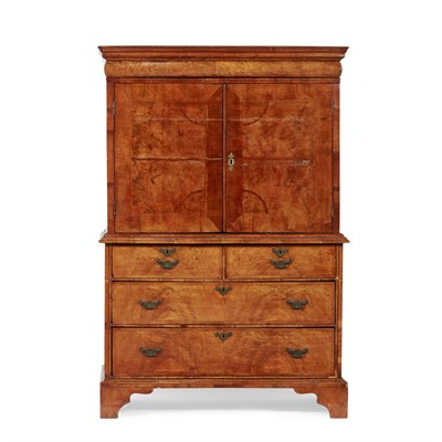 Lot 13-QUEEN ANNE WALNUT ESCRITOIRE