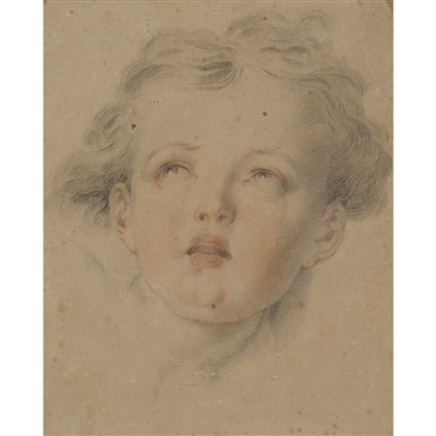 Lot 8-CIRCLE OF SIR THOMAS LAWRENCE (BRITISH 1769 - 1830)