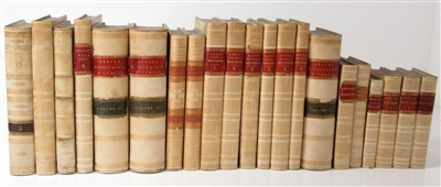 Lot 37-A COLLECTION OF ITALIAN WORKS IN VELLUM BINDINGS