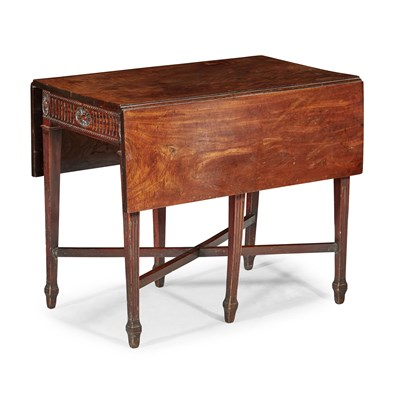 Lot 44-DUTCH PADOUK PEMBROKE TABLE