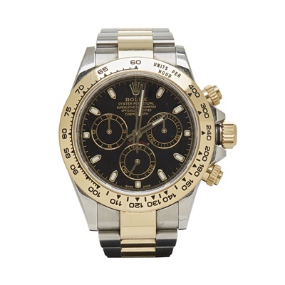 Lot 327 - A gentleman's 18ct gold and stainless steel chronograph, Rolex