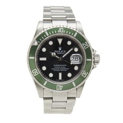 Lot 328 - A gentleman's stainless steel wrist watch, Rolex
