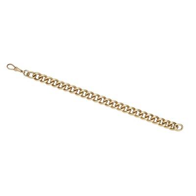 Lot 130 - A curb link bracelet