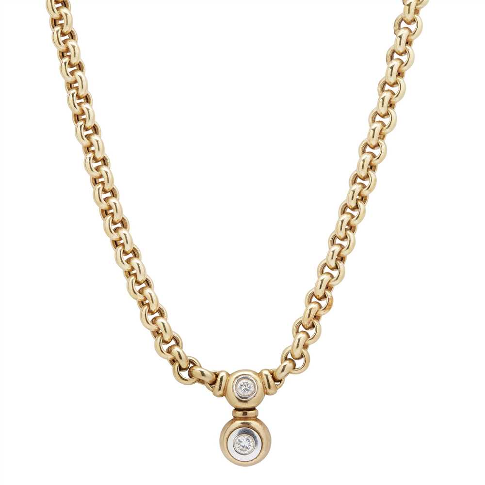 Lot 14-A diamond and pearl set convertible necklace, Garrard