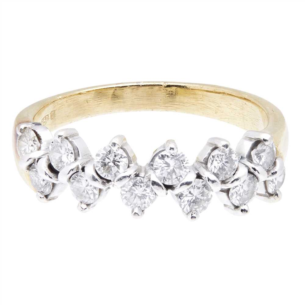 Lot 12-A diamond set half-eternity ring