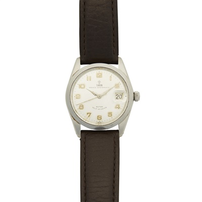 Lot 335 - A stainless steel cased wrist watch, Tudor, Rolex
