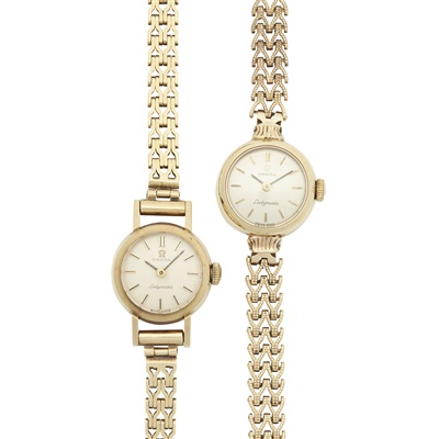 Lot 321 - Two mid-20th century 9ct gold ladies wrist watches, Omega