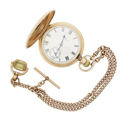 Lot 351 - A 9ct gold pocket watch, Waltham