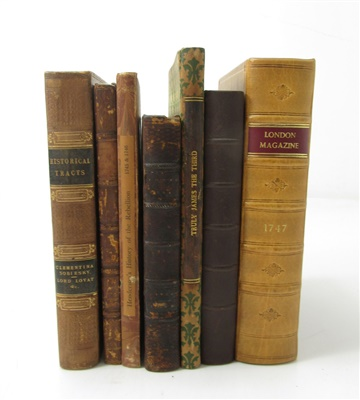 Lot 68-1715 & 1745 RISINGS, A COLLECTION OF 15 BOOKS AND PAMPHLETS, BOUND IN 7 VOLUMES, INCLUDING