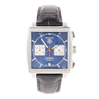 Lot 336 - A gentleman's stainless steel cased chronograph, Tag Heuer