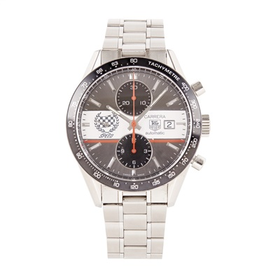 Lot 338 - A gentleman's stainless steel chronograph, Tag Heuer