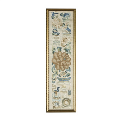 Lot 20-TWO EMBROIDERED PANELS