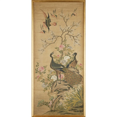 Lot 142A - CHINESE SCHOOL STYLE INK AND COLOUR PAINTING