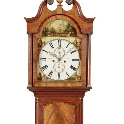 Lot 5-AN EARLY VICTORIAN MAHOGANY CASED LONGCASE CLOCK BY ROBERT WILKIE, CUPAR