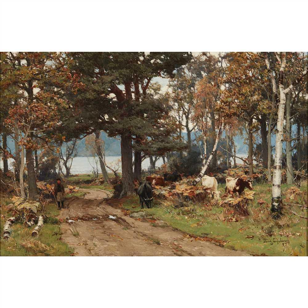 Lot 38-DAVID FARQUHARSON A.R.A., A.R.S.A., R.S.W., R.O.I. (SCOTTISH 1840-1907)