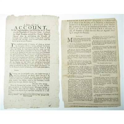 Lot 65-[FACULTY OF ADVOCATES IN EDINBURGH] MEDAL OF THE PRETENDER