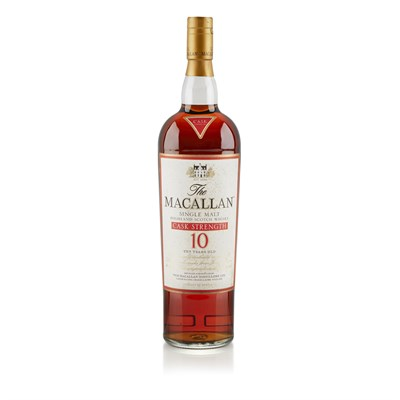 Lot 617-THE MACALLAN 10 YEAR OLD CASK STRENGTH