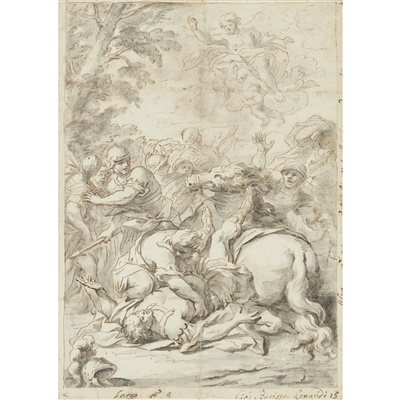 Lot 4-GIOVANNI BATTISTA LENARDI (ITALIAN 1656-1704)